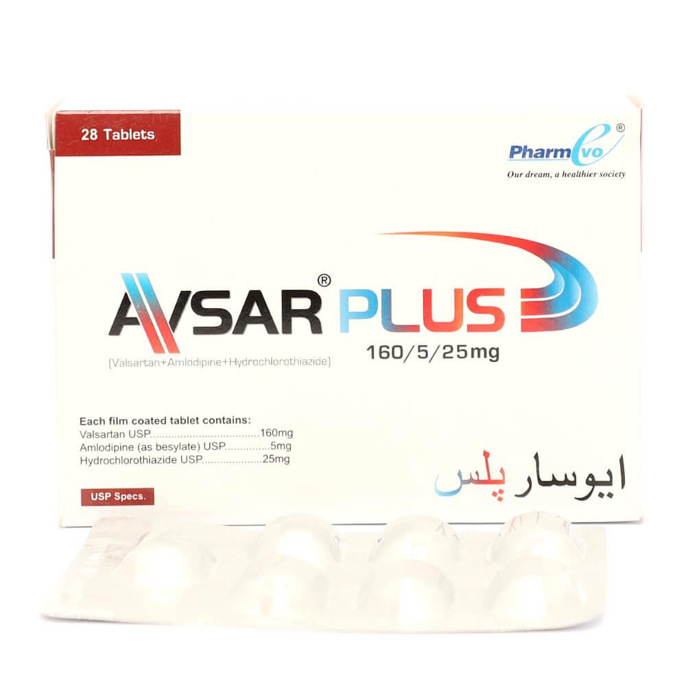 Avsar Plus 160/5/25mg