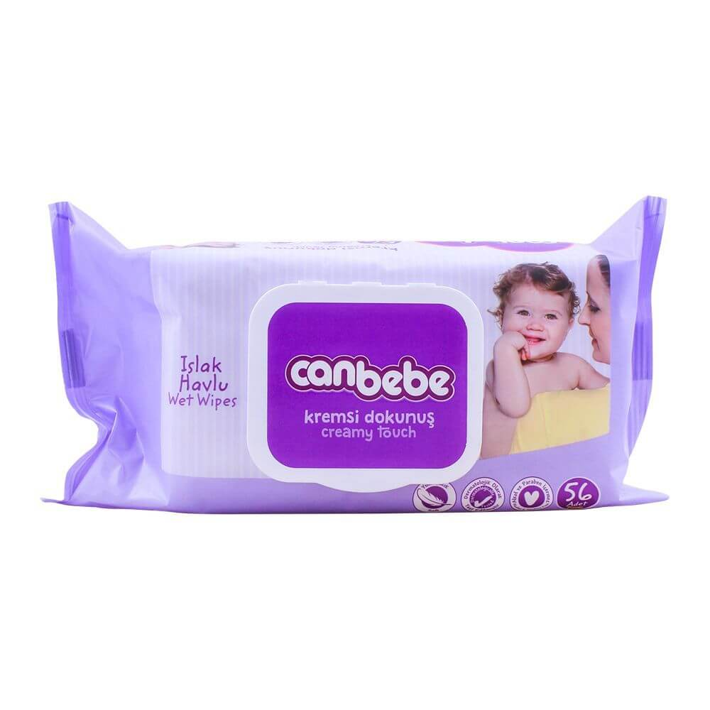 Canbebe Creamy Touch Baby Wipes 56 Pcs