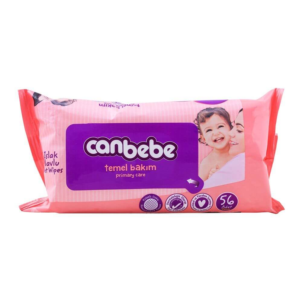 Canbebe Primary Touch Baby Wipes 56 Pcs