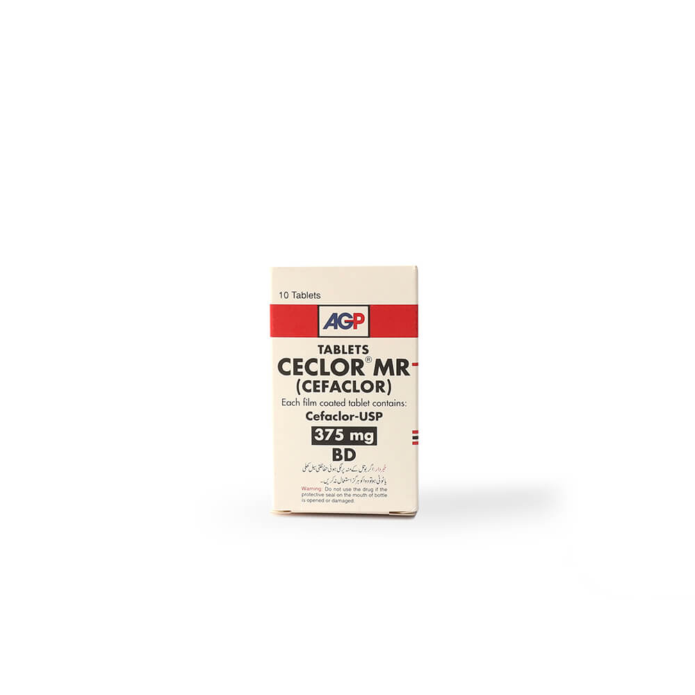 Ceclor MR 375mg BD