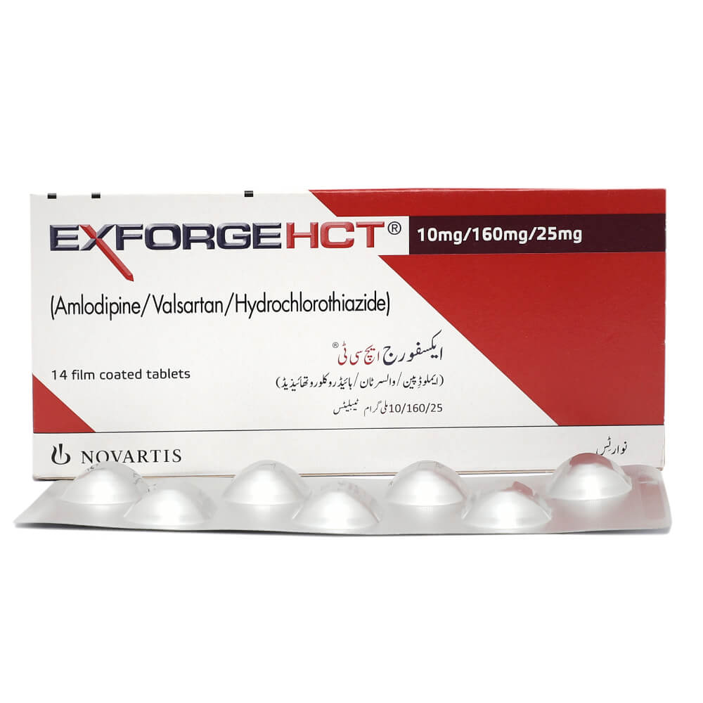 Exforge Hct 10/160/25mg