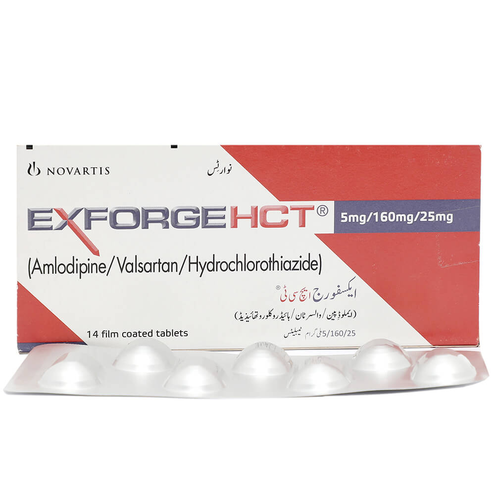 Exforge Hct 5/160/25mg
