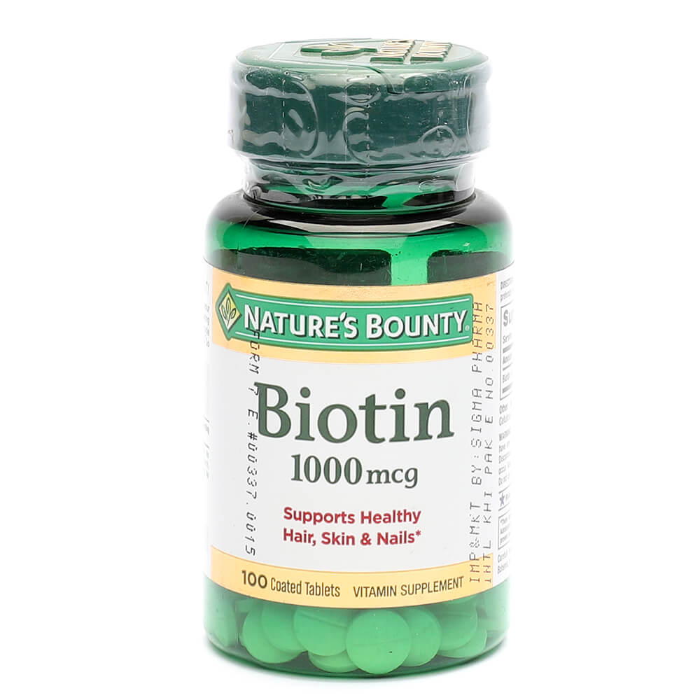 Nature's Bounty Biotin 1000mcg (100)