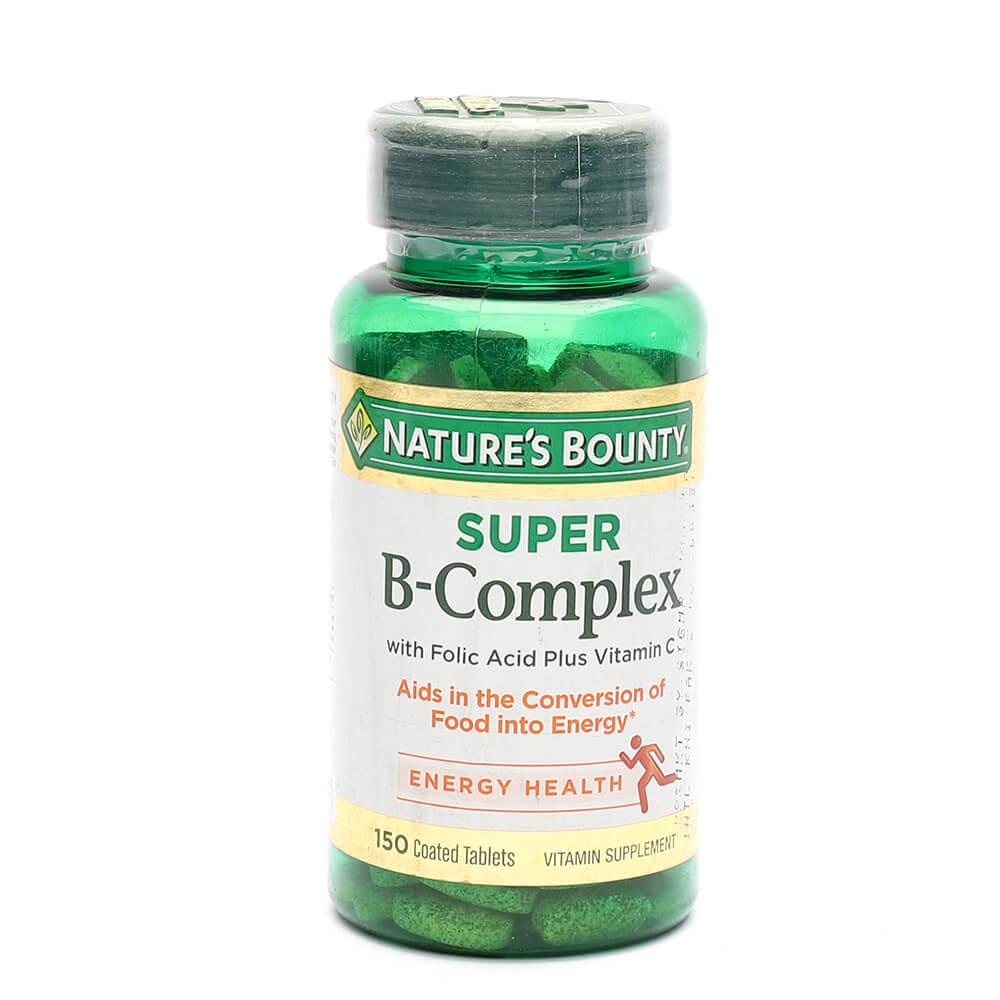 Nature's Bounty Super B-Complex with Folic Acid