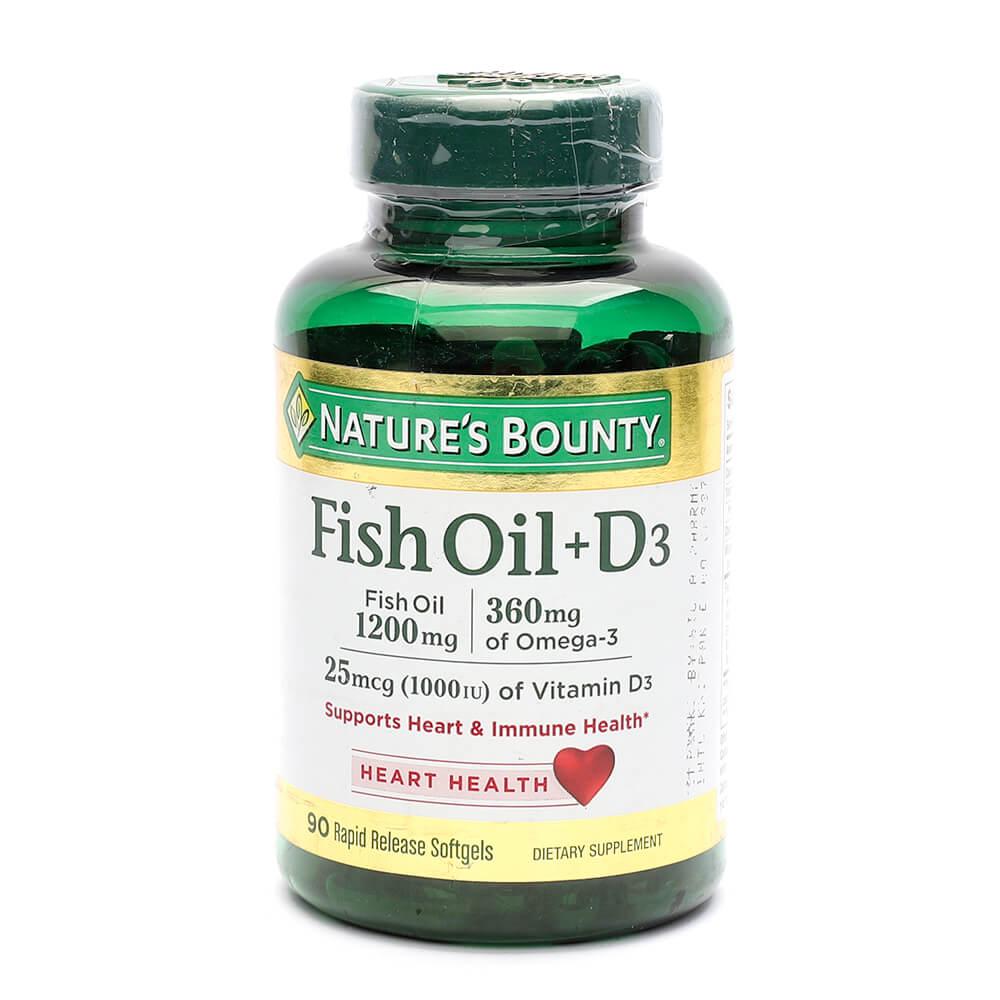 Nature's Bounty Fish Oil + Vitamin D3 (90)