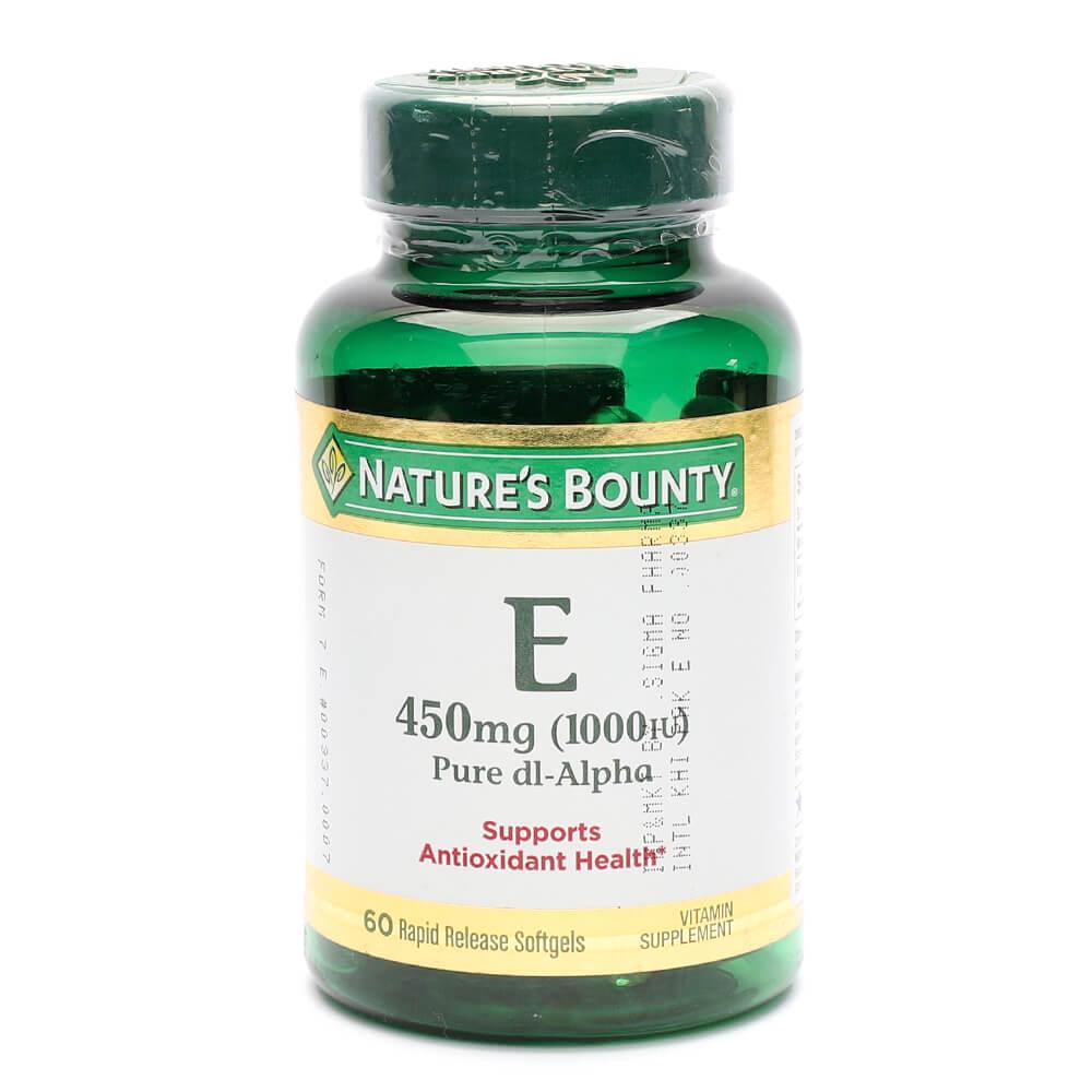 Nature's Bounty Vitamin E 450mg (60)